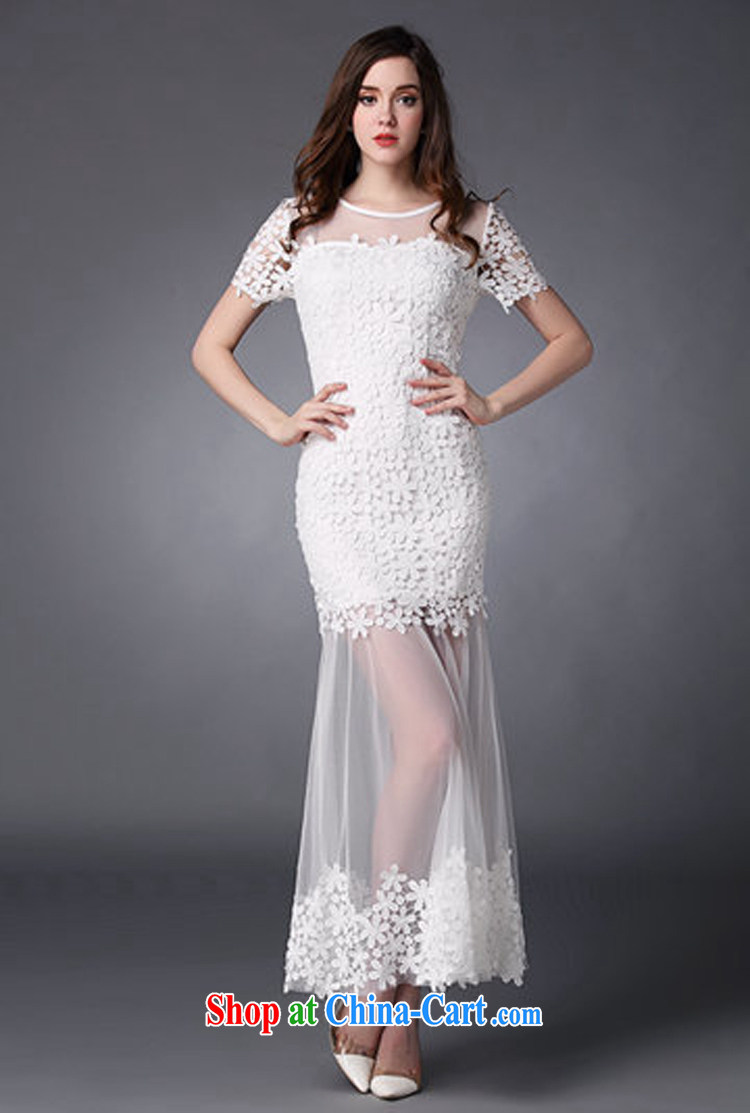 A property, bridesmaid service 2015 spring and summer new female water-soluble lace flower stitching Web yarn goddess level toast dress uniform dress white L pictures, price, brand platters! Elections are good character, the national distribution, so why buy now enjoy more preferential! Health