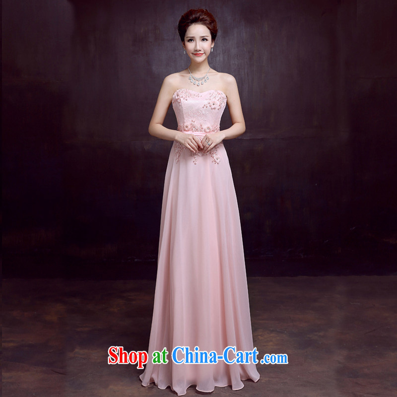 The married Yi wedding dresses new 2015 sexy bare chest bridal toast clothing fall, marriage dress female Red XXL
