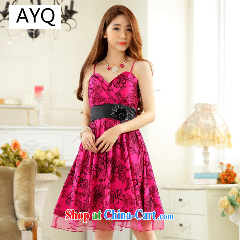 AIDS has been Qi annual sweet dress elegant value V lint-free cloth for lifting with the waist skirt in small dress dresses 9924 A - 1 red XXXL