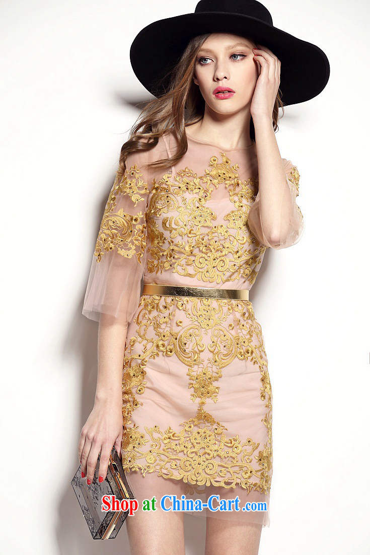 The Bekaa in Dili 8729 advanced custom gold embroidery name Yuan dress 2 piece dress picture color M pictures, price, brand platters! Elections are good character, the national distribution, so why buy now enjoy more preferential! Health