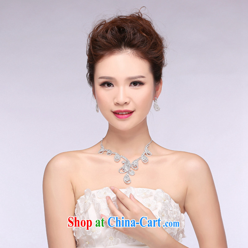Hi Ka-hi 2015 new bridal jewelry wedding jewelry beautiful diamond wedding necklace earrings NX 01 white are code