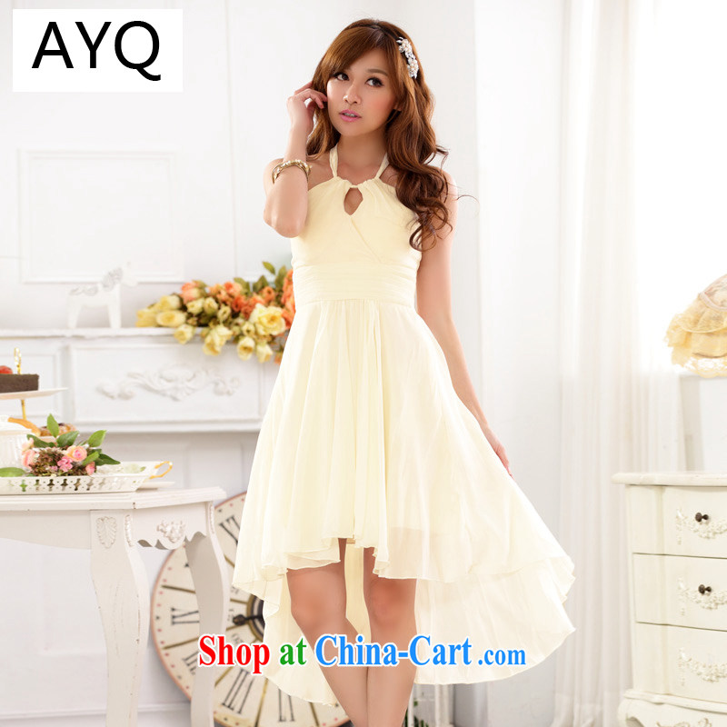 AIDS has been Qi Yuan name your shoulders hang also sense the waist show snow woven larger dovetail dress dresses 9915 A - 1 champagne XXXL