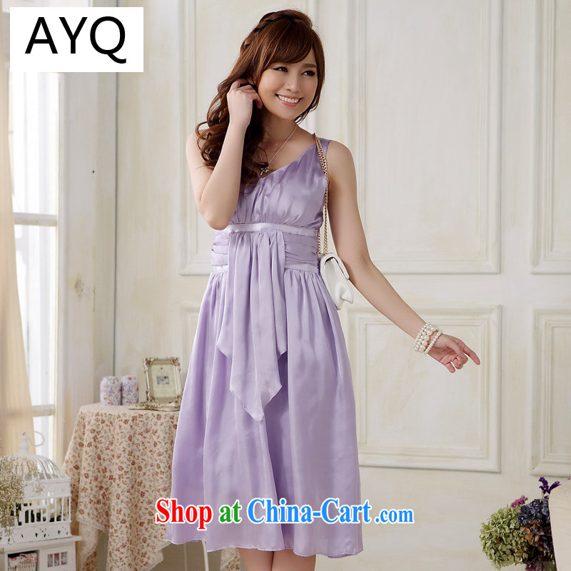 AIDS has been Qi gathered in Europe package chest sexy Evening Dress emulation, elegant large code dress in dress dresses 9808 A - 1 purple XXXL