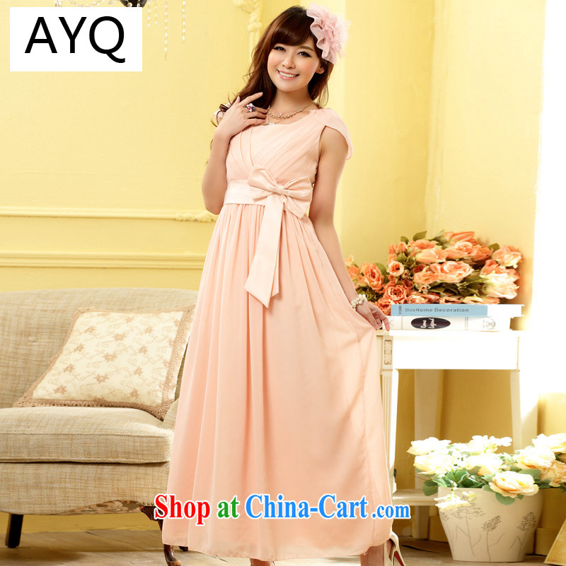 AIDS has been Qi dinner appointment mask shoulder thin waist long gown dress 9902 A - 1 pink XXXL