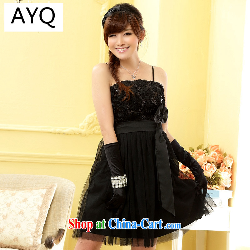 AIDS has Qi sweet Babby sister skirt waist-chest end small dress dresses (the invisible) 9900 A - 1 black XXXL