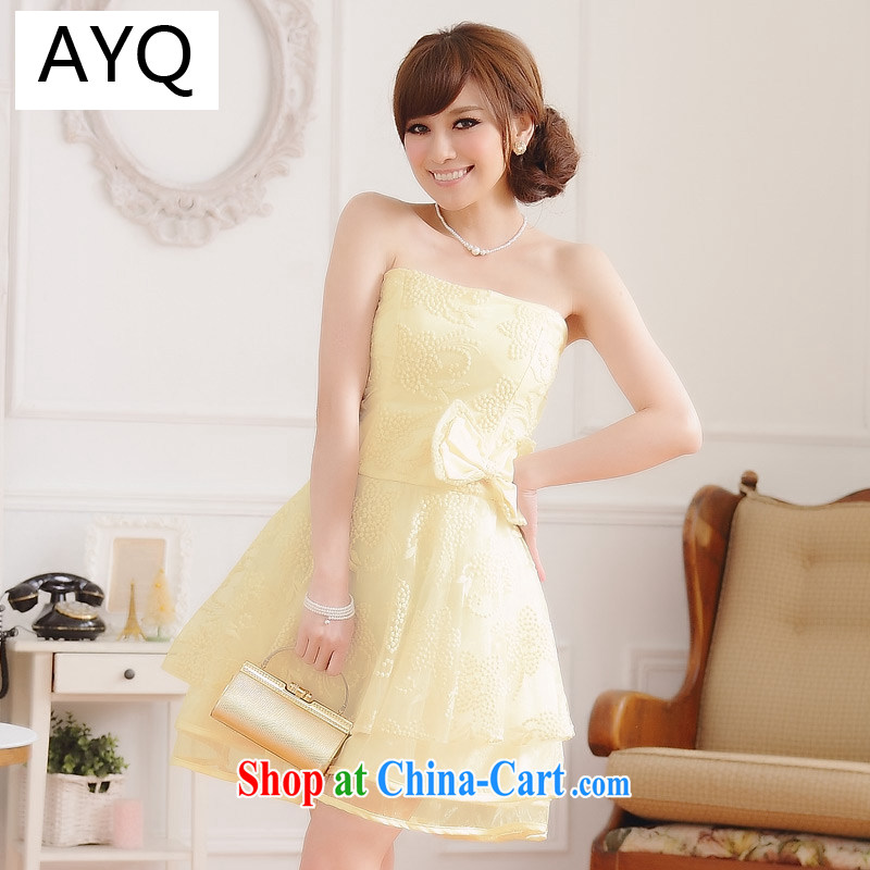 AIDS has Qi Yuan a stylish sister skirt the root yarn. rust last chest Princess dress bridesmaid dresses small annual dress dresses _with stealth_ 9702 A champagne color XXXL