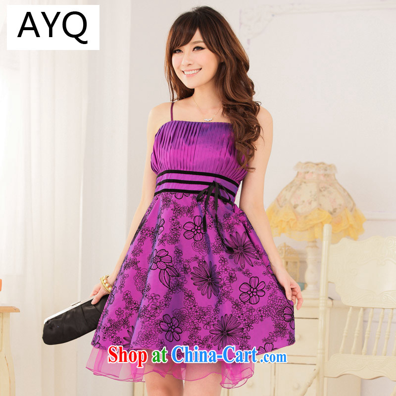 AIDS has been Qi elegant antique process value lint-free cloth take thin waist straps dress dresses 9115 A - 1 purple XXXL