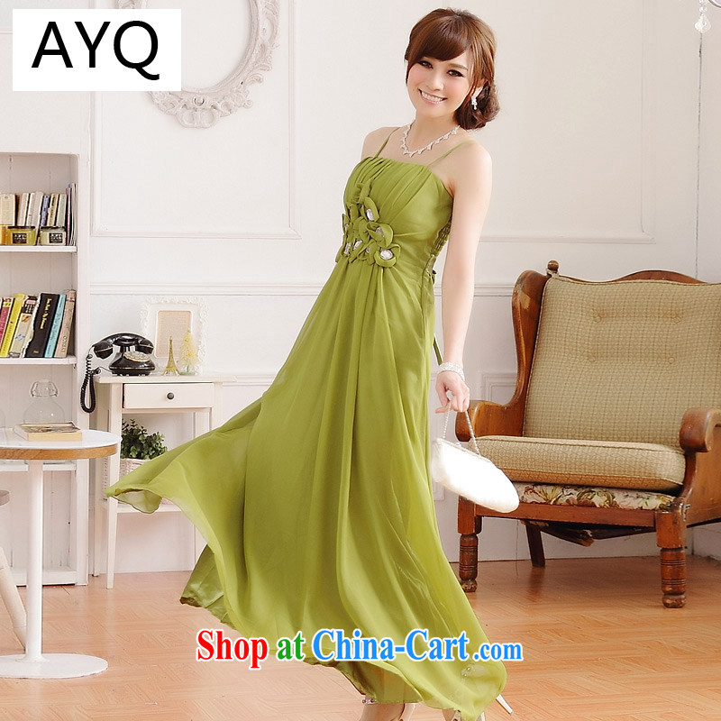 AIDS has been Qi Europe Red Carpet show luxury manually staple drill nails take longer dress dresses 9218 A - 1 green XXXL