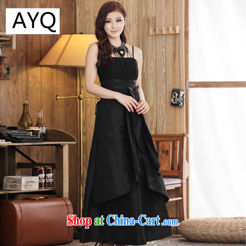 AIDS has been Qi only the barometric pressure, the waist with long dress version 3324 - 1 black XXXL