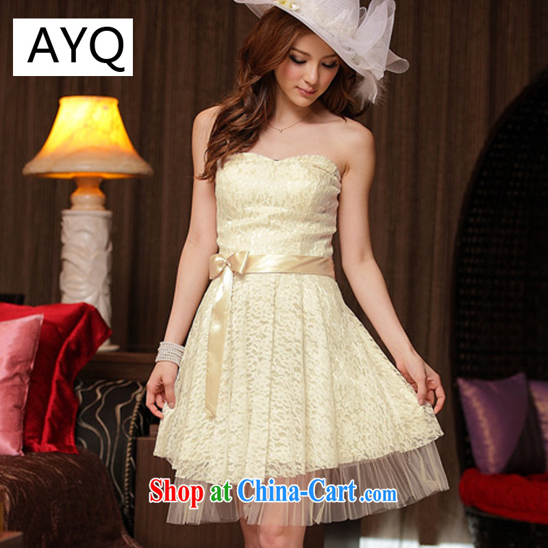AIDS has been Qi charm sweet lace end chest dresses bridesmaid dresses small 8224 champagne color XXXL
