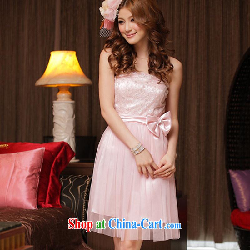 AIDS has been Qi sweet Princess lace dress straps dress 8225 - 1 pink XXXL, AIDS has Qi (Aiyaqi), shopping on the Internet