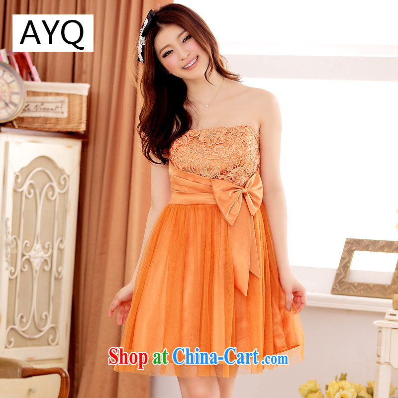 AIDS has Qi spring and summer Sweet Love spend web wipe chest Web dresses dresses 3116 - 1 orange XXXL