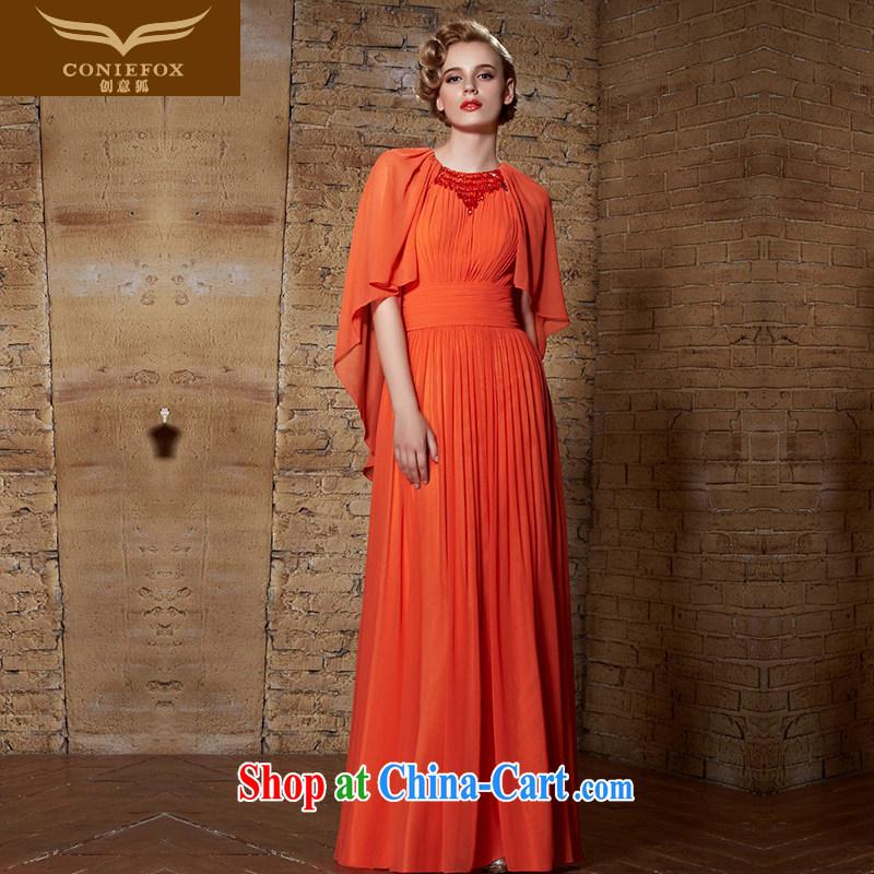 Creative Fox Evening Dress 2015 new dress long high-waist maternity dress uniform toast dress dress beauty wedding dress 30,881 orange XXL