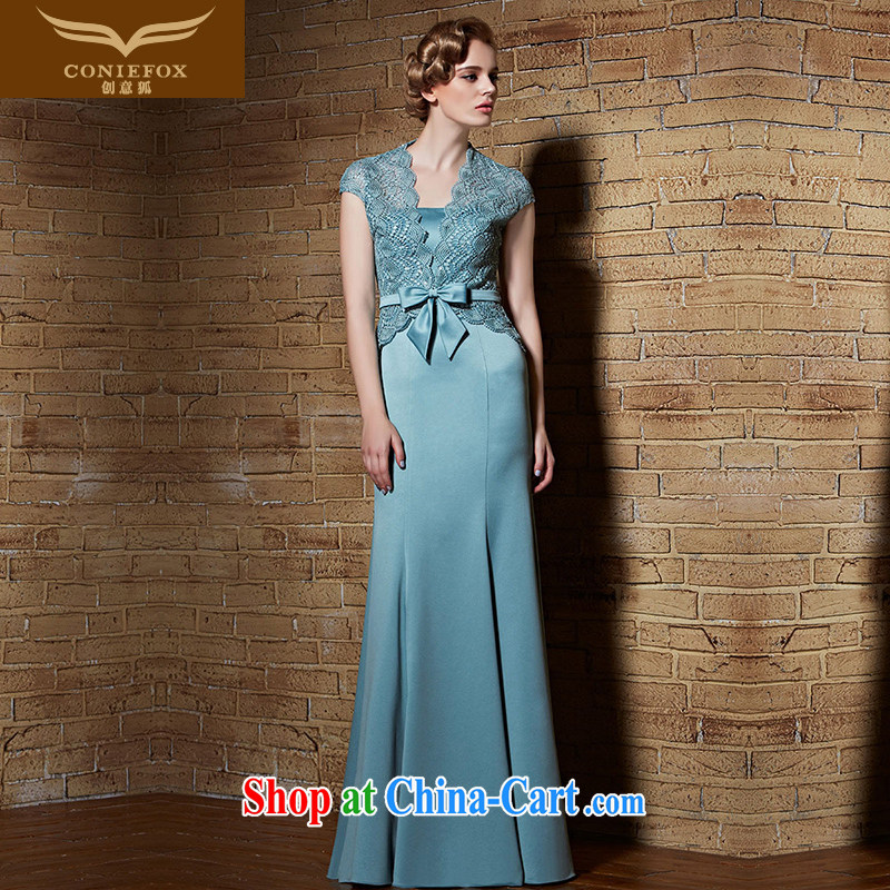 Creative Fox dress and stylish two-piece lace shawl dress elegant wiped his chest long chair annual dress will show dress long skirt 30,896 XXL