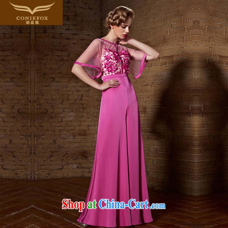 Creative Fox Evening Dress 2015 new bridesmaid dress long high-waist graphics thin evening dress dress uniform toast wedding dresses and elegant and a long skirt 82,125 rose red XXL
