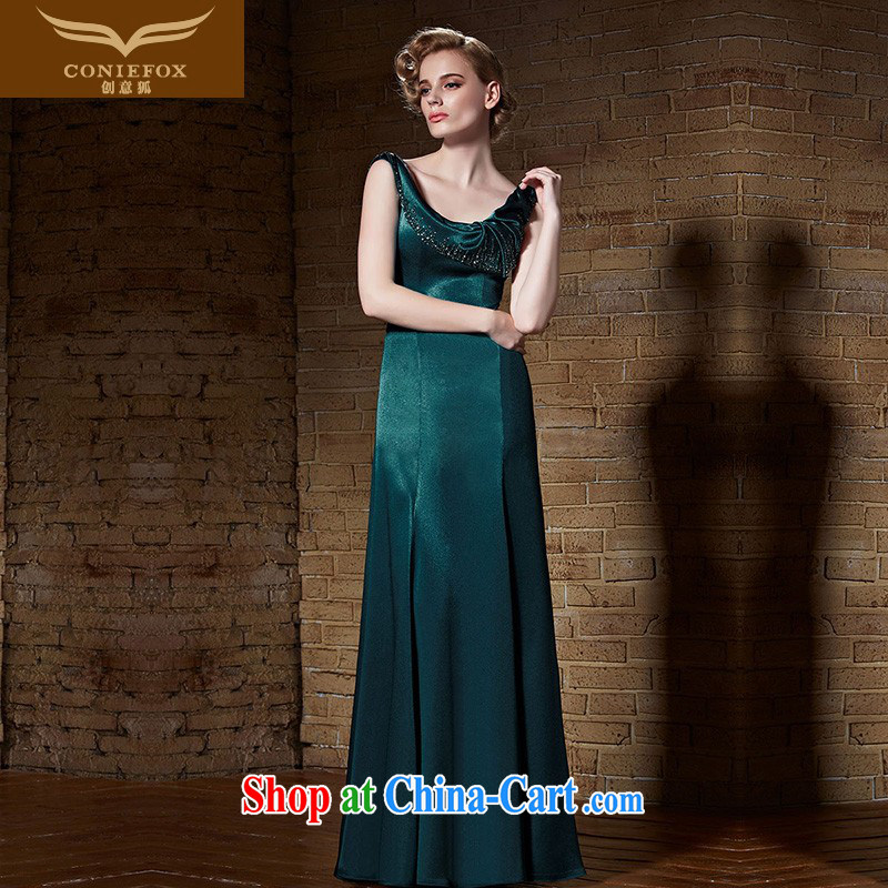 Creative Fox Evening Dress 2015 new banquet evening dress dress girl long high-waist graphics thin dresses the annual dress model dress 82,189 dark XXL