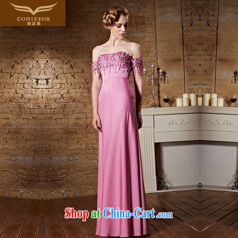 Creative Fox dress pink field shoulder bridal wedding dress the dress long bridesmaid dress bows. Stylish wedding elegant long skirt 30,863 pink XXL
