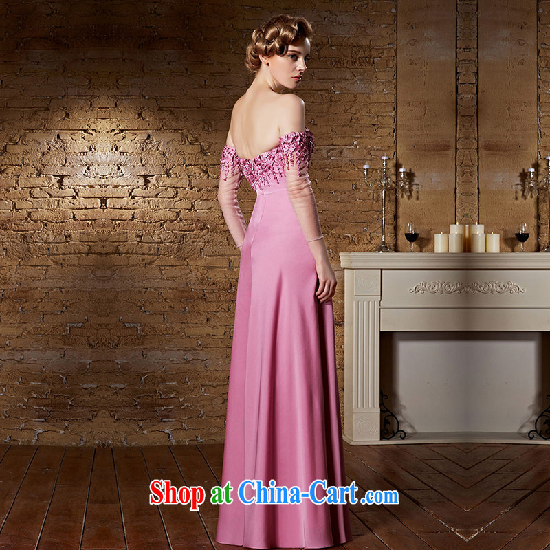 Creative Fox dress pink field shoulder bridal wedding dress the dress long bridesmaid dress bows. Stylish wedding elegant long skirt 30,863 pink XXL, creative Fox (coniefox), online shopping