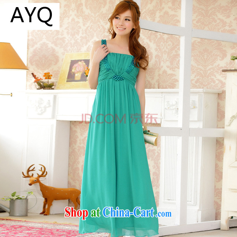 AIDS has been Qi spring and summer GALLUS DRESS snow-woven skirt the code dress long dress dresses manually staple Pearl bridesmaid dress 9601 A - 1 green XXXL
