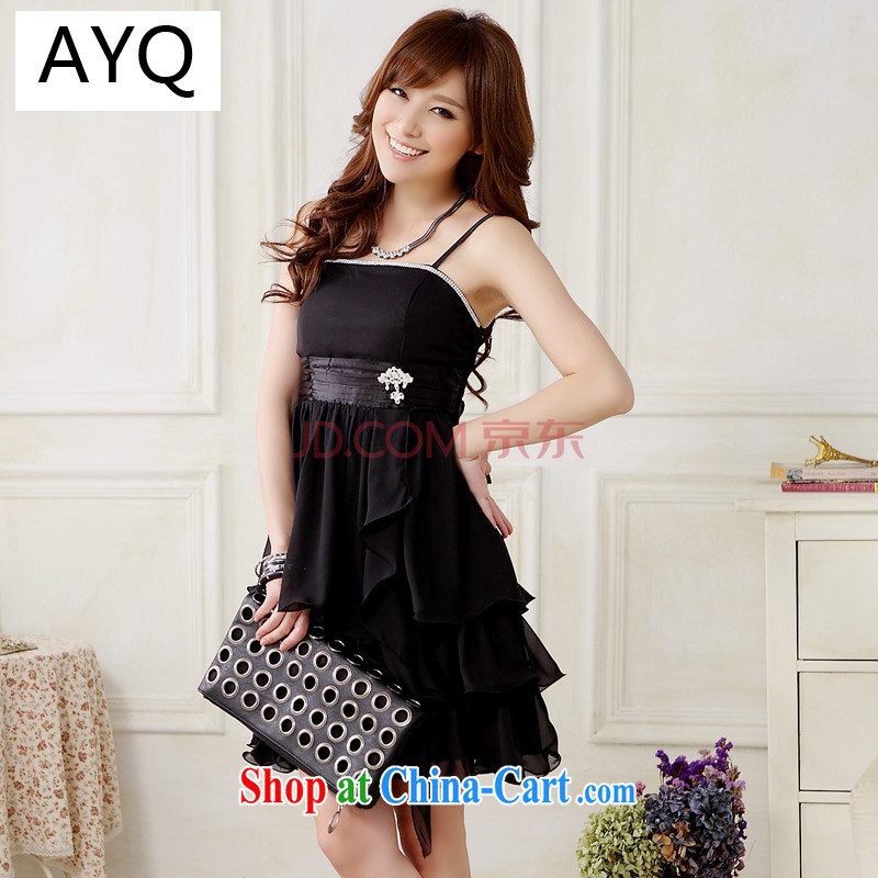 AIDS has been Qi in Europe and America, stylish and elegant lady with light drill marriage yarn small dress sister snow woven dresses _the great belt clip_ 9908 A - 1 black are code