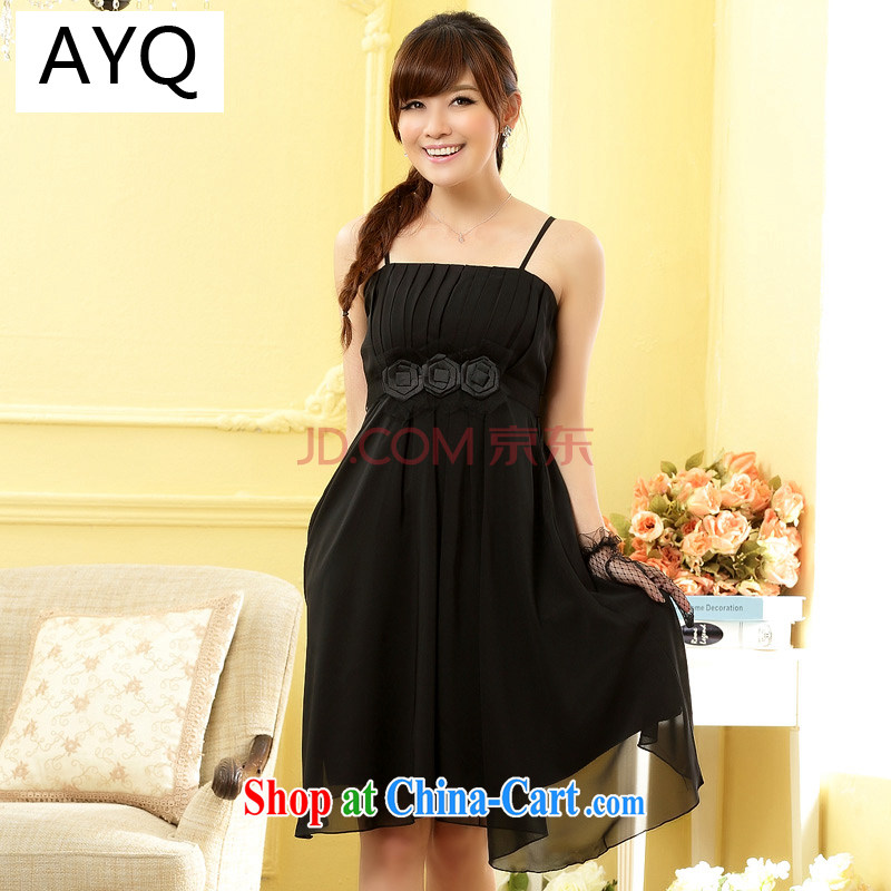 AIDS has been Qi sexy bridesmaid Evening Dress stylish sister fine kidney straps dress skirt dress A 9805 - 1 black are code
