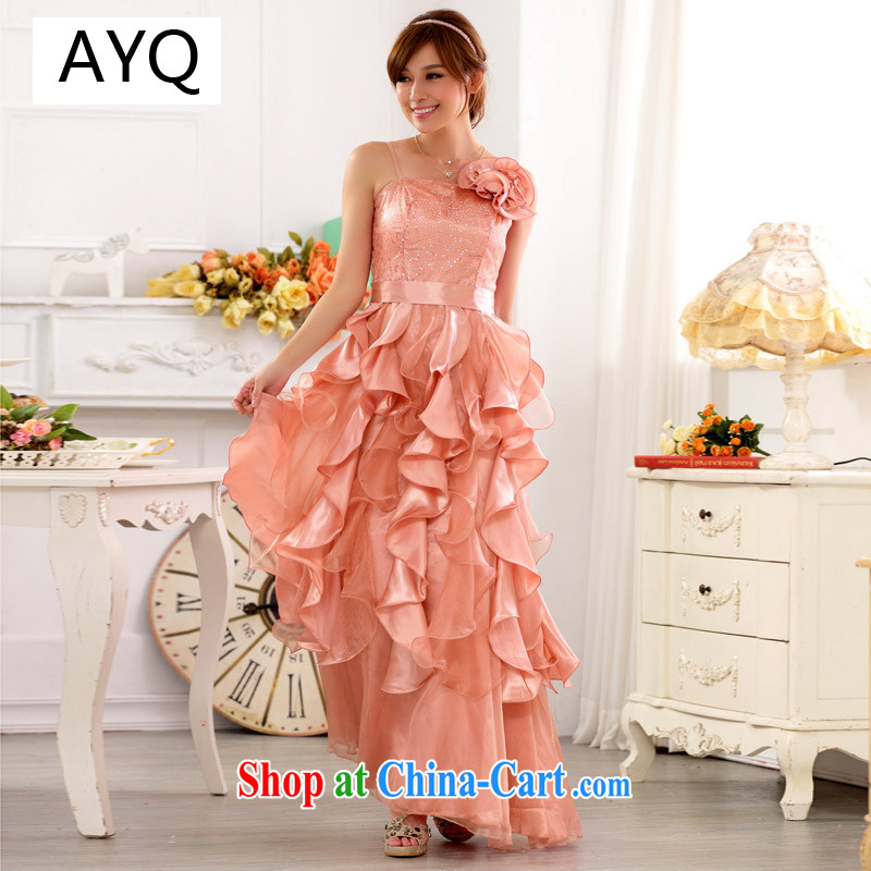AIDS has been Qi XL ladies' evening entertainment service night skirt the princess skirt, straps, long evening dress dresses 9723 A - 1 toner color code