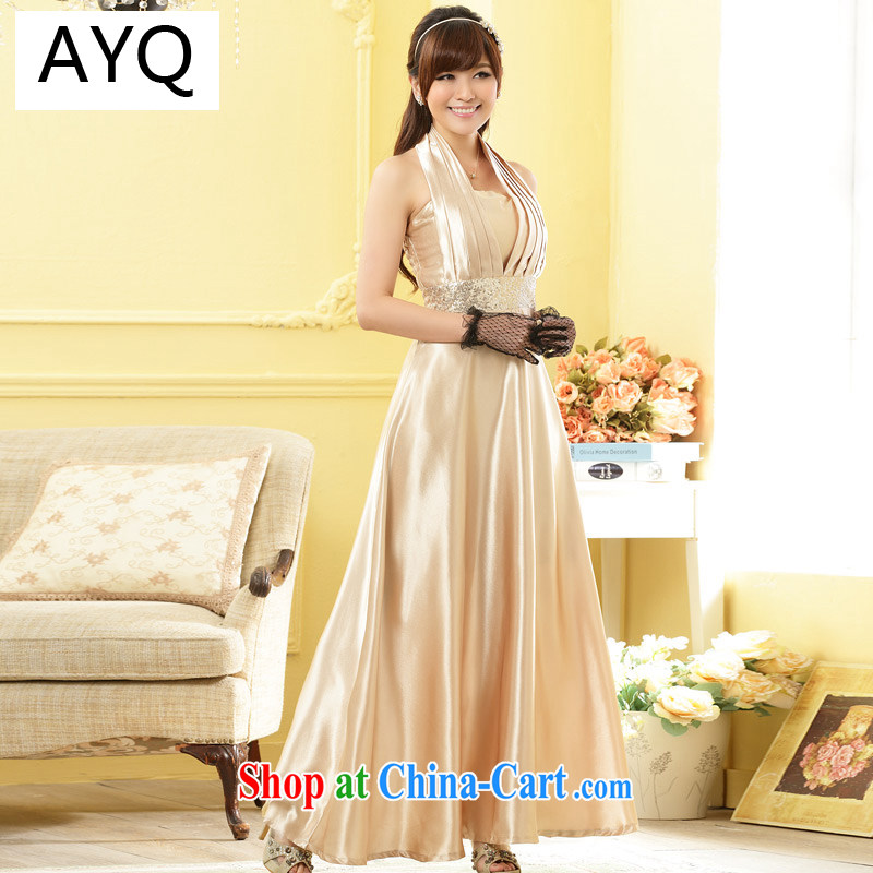 AIDS has been Qi Europe wind wine dinner gathering in the betrothal bridal dress bridesmaid graphics thin extra long, dresses 9901 A - 1 champagne color code