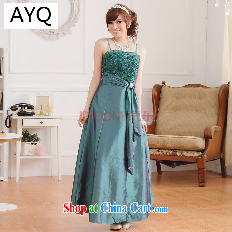 AIDS has been Qi roses graphics thin drill fastener straps large code dress banquet appointments, dresses, President 9700 A - 1 green is code