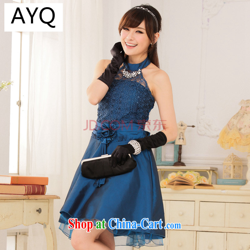 AIDS has been Qi larger women dance night court and American waist Graphics High lace hangs also dress Princess dress A 9114 - 1 blue are code