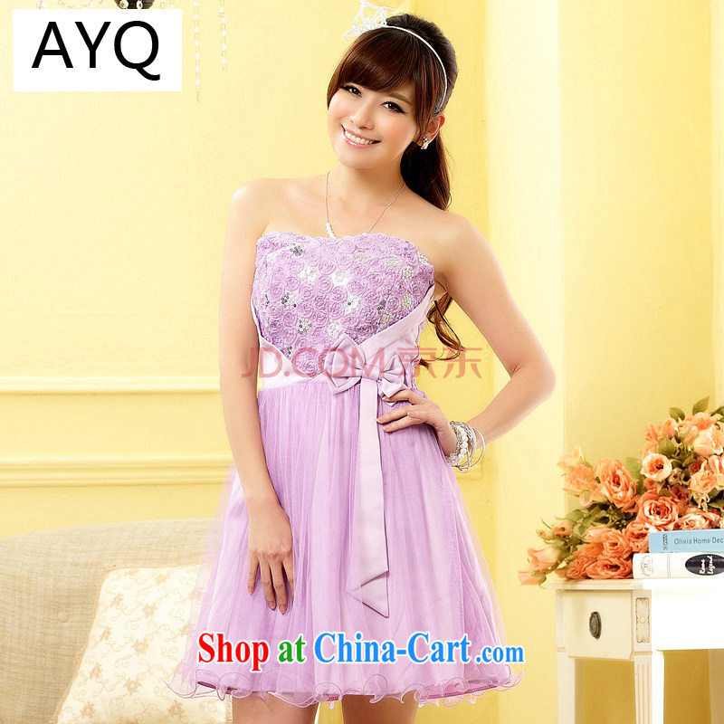 AIDS has been Ki-sweet blossoms butterfly knot beauty lace small dress bridesmaid sister, the stealth) 9704 A - 1 purple are code