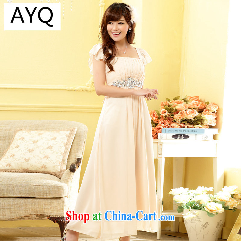 AIDS has been Qi upscale American drilling a field for snow woven dress Evening Dress dress wedding bridesmaid dresses the code 9802 A - 1 champagne color code