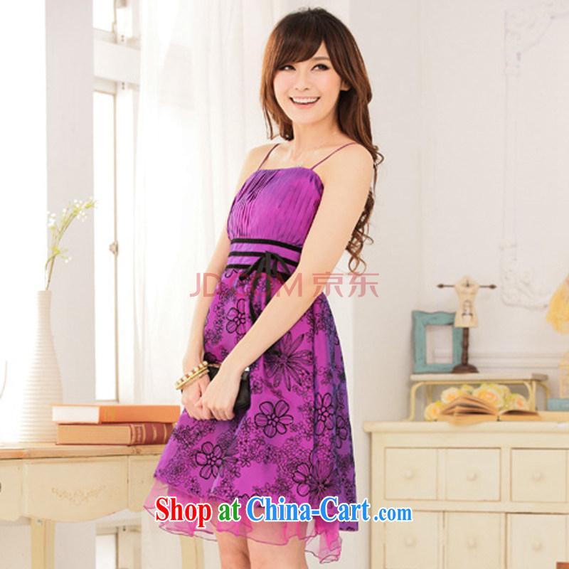 AIDS has been Qi Korean retro lint-free cloth take thin waist straps wedding dress Evening Dress toast clothing dresses 9115 A - 1 purple, code, and AIDS has Qi (Aiyaqi), online shopping