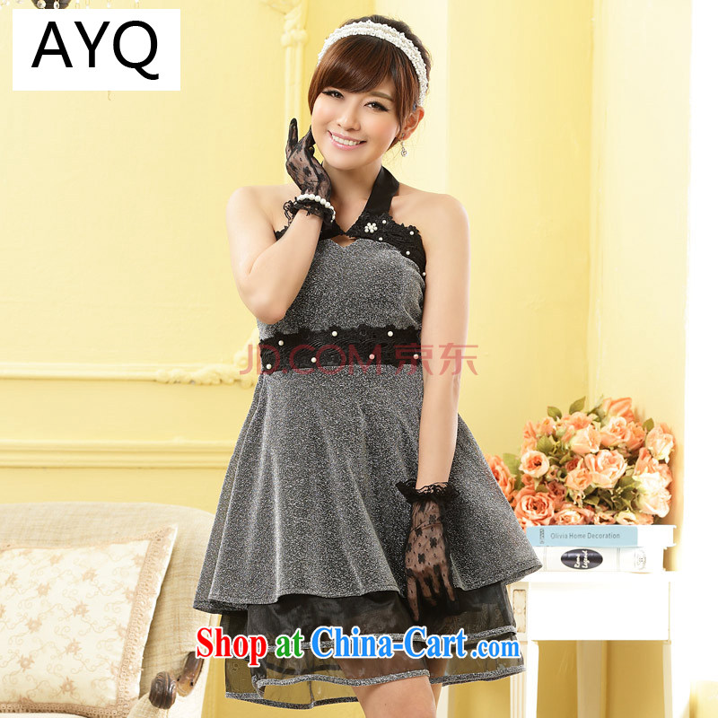 AIDS has been Qi is also dress Princess Replace Staple Pearl night scarf thin waist ladies dress skirt A 9800 - 1 silver are code
