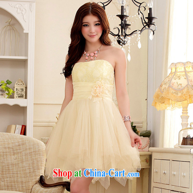 AIDS has been Qi short, bare chest small dress sweet Web yarn Princess skirt dresses betrothal small dress (the invisible) 9103 A - 1 pink XXL pictures, price, brand platters! Elections are good character, the national distribution, so why buy now enjoy more preferential! Health