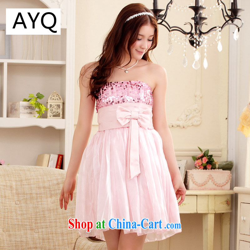 AIDS has been Qi 2015 dress wedding, small dress party short stylish bridesmaid repeatedly dress (the invisible) 9104 A - 12 pink XXL