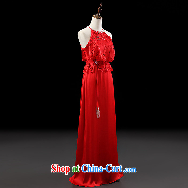Love, Ms Audrey EU Yuet-mee, RobinIvy) dress new 2015 spring and summer is also a sleeveless Openwork long evening dress bows dress L 13,794 red XL, Paul love, Ms Audrey EU, and shopping on the Internet