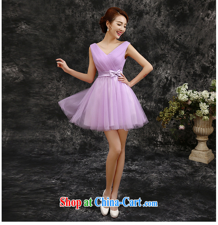 The beautiful 2015 spring and summer new short, Purple double-shoulder wedding bridesmaid dress Evening Dress dress bridesmaid with light purple S pictures, price, brand platters! Elections are good character, the national distribution, so why buy now enjoy more preferential! Health