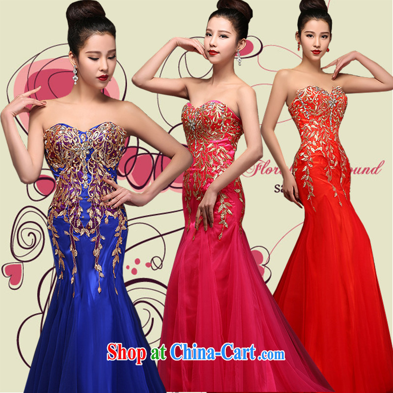 Hi Ka-hi 2015 new bows dress Korean crowsfoot erase chest dress the annual dinner show dress skirt DJ 26 rose XXL