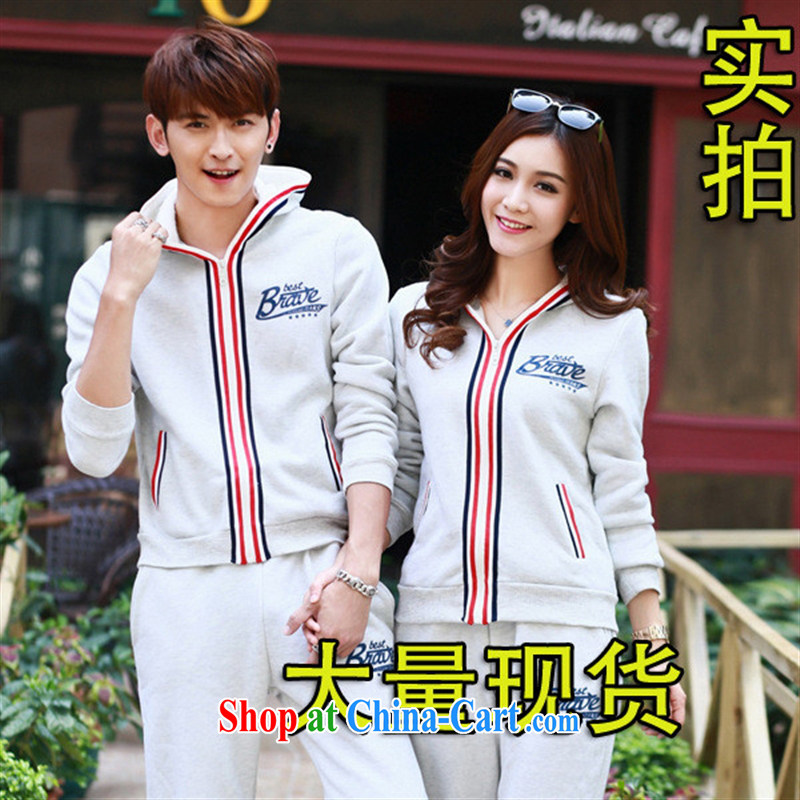 Close deals with clothing * Korean version, new, men and women, clothing and winter the lint-free cloth thick uniforms couples with campaign kit dark blue 2 XL