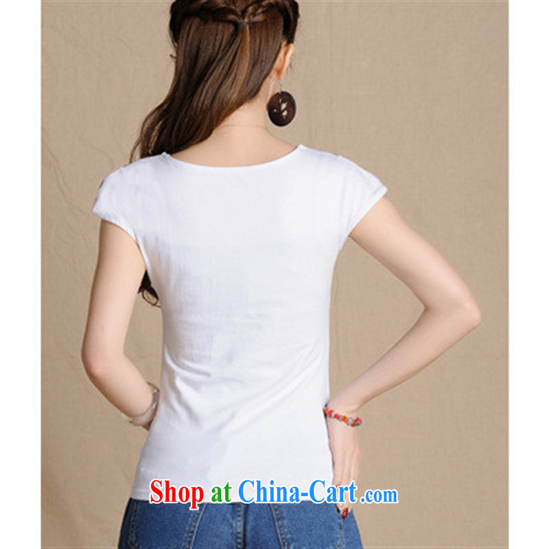 Health Concerns dress * L 5866 National wind women's clothing spring and summer new round-collar embroidered cotton cultivating T solid white shirt 2 XL, health concerns (Rvie .), and, on-line shopping