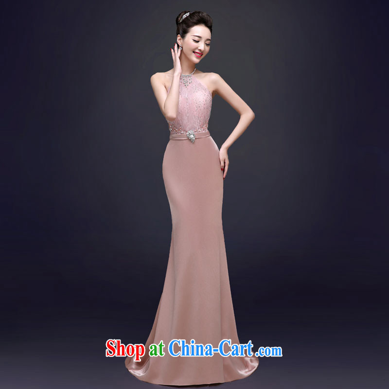 A good service is 2015 spring bridal wedding dress skirt moderator banquet at Merlion, Evening Dress long long 2 XL
