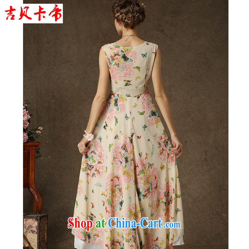 The Bekaa in Dili the Korean Composite population stamp butterfly spell white Pearl snow woven double-decker Big swing dresses picture color XL, Bekaa in Dili (JIBEIKADI), shopping on the Internet