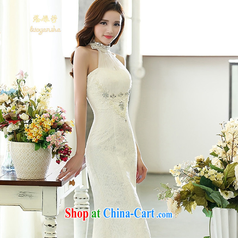 Lok Yan SA wedding 2015 new stylish marriages Korean version is also at Merlion dress winter beauty graphics thin wall also white S