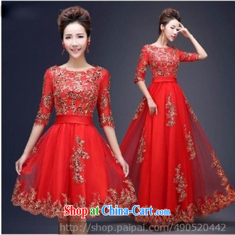 A beautiful, wedding dresses, dresses, uniforms, classic style luxury personal a cuff dress red long XXL so Balaam, and shopping on the Internet