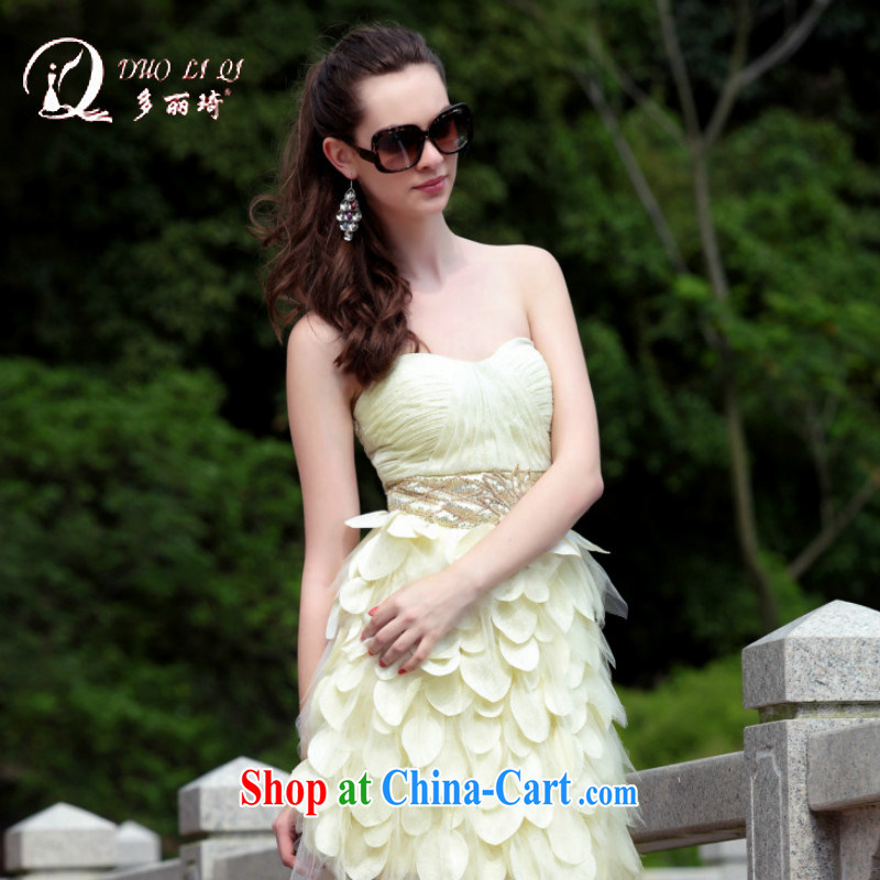 More LAI Ki wrapped chest bare color shaggy dress dress game show dress white L