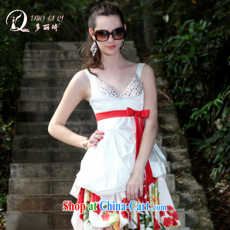 More LAI Ki small dress, summer dress dress short white dresses, white XXL