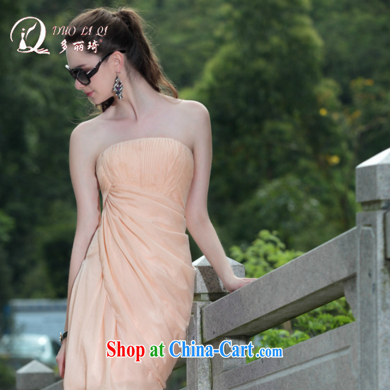 More LAI Ki Europe Evening Dress 2015 erase chest small dress short dress dress pink XXL