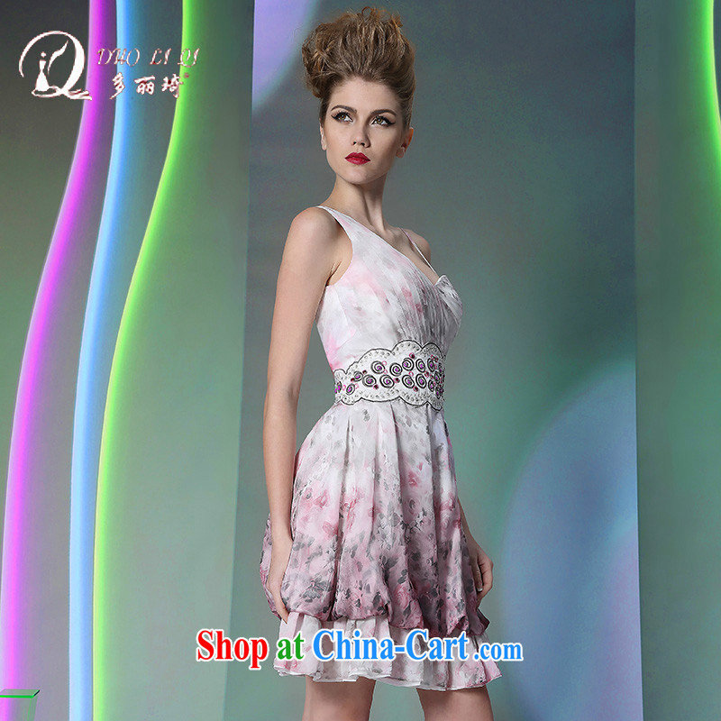 More LAI Ki Europe Evening Dress 2015 multi-lai Ki straps short white XXL