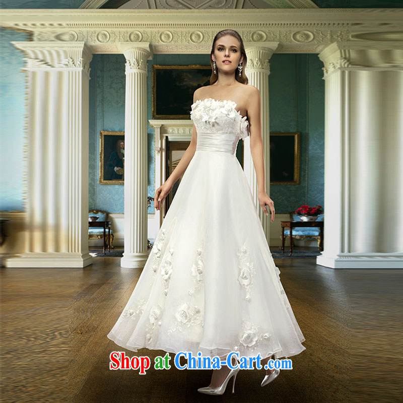 Hi Ka-hi 2015 new dress euro-erase chest dress Love Mary Magdalene annual chest hosted banquet performances dress skirt FT 06 ivory XXL