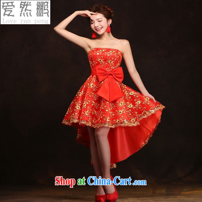 Love, Norman red bridal toast service 2015 spring and summer new banquet dress short wedding dresses women marriage bridesmaid service customer to size the Do Not Support Replacement